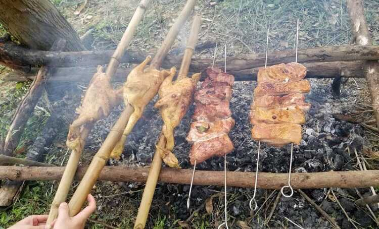 gà nướng sa lửa