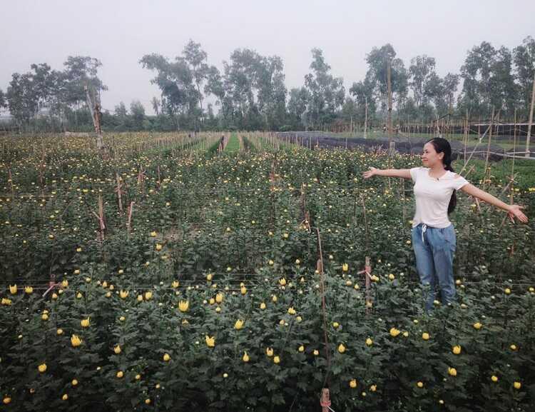 hít thở trong lành tại Làng Hoa