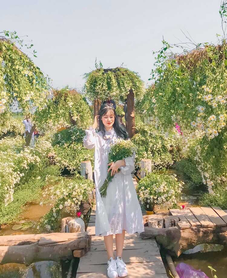 check in vườn hoa