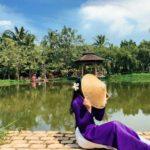 Bảo tàng áo dài ở quận 9 có phong cảnh làng quê Việt Nam ngày xưa