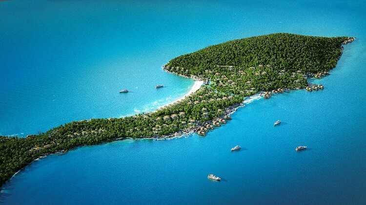 bức tranh tổng thể đảo Phú Quốc