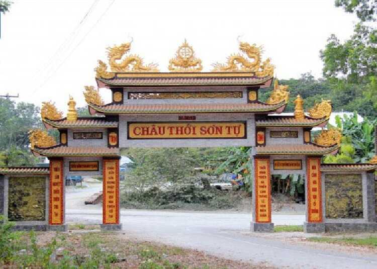 cổng chùa châu thới
