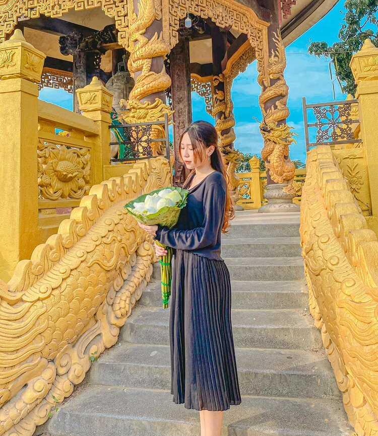 chụp ảnh đẹp chùa châu thới