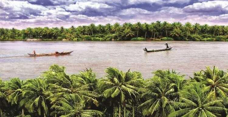 bức tranh sông nước miền tây